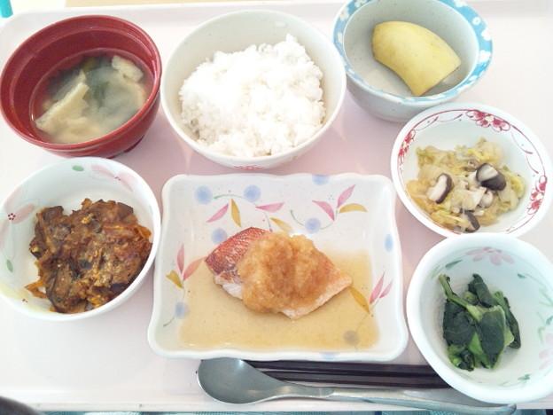 1月18日昼食(赤魚のみぞれ煮) #病院食