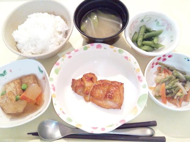 1月18日夕食(鶏肉の山椒焼き) #病院食