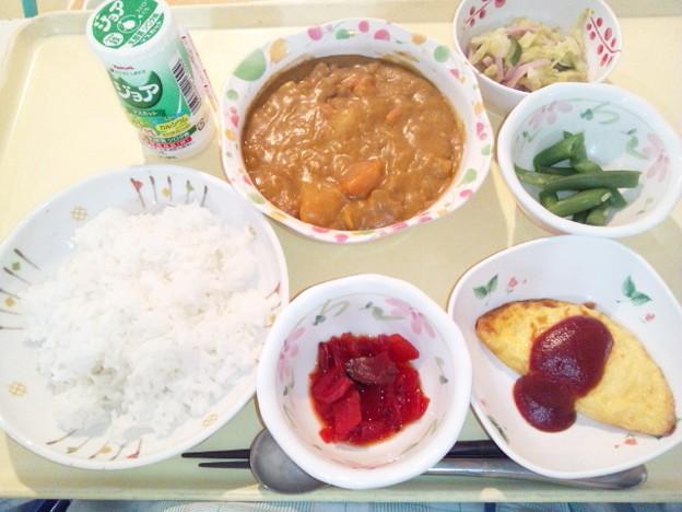 1月20日夕食(ビーフカレー) #病院食