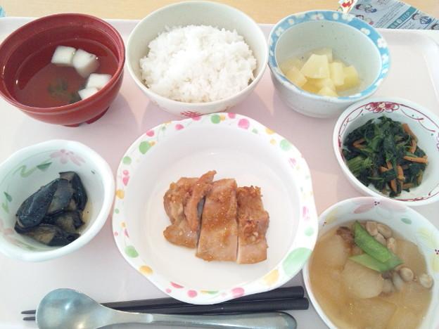 1月22日昼食(鶏肉のガーリック焼き) #病院食