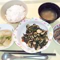 Photos: 3月21日夕食(鶏肉のオイスター炒め) #病院食