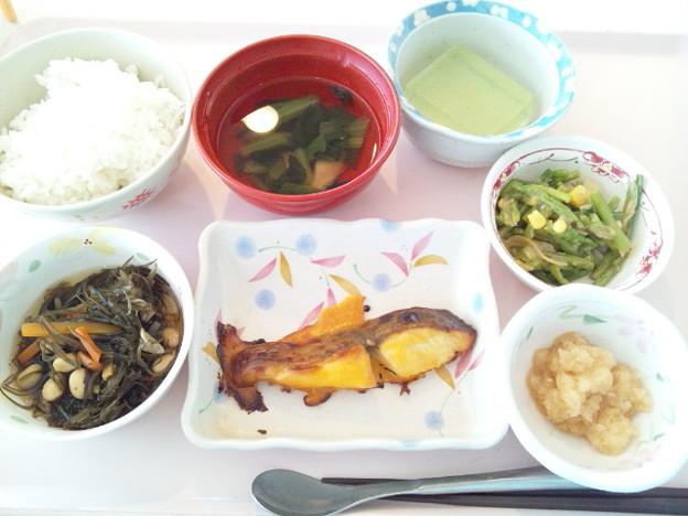 3月24日昼食(めだいの黄身焼き) #病院食