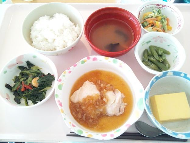 3月25日昼食(鶏の香味ソースがけ) #病院食