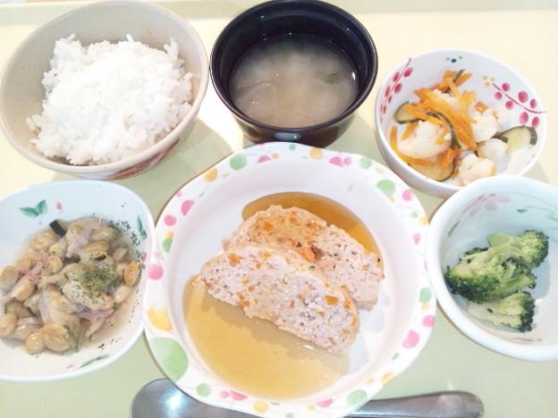 5月16日夕食(和風ミートローフ) #病院食