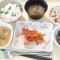 Photos: 5月23日夕食(赤魚の香り蒸し) #病院食
