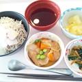 8月13日昼食(冷やしとろろそば) #病院食