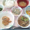8月15日昼食『鶏の梅焼き』 #病院食