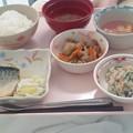 8月16日昼食(鯖の味噌煮) #病院食
