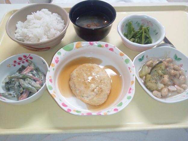8月16日夕食(豆腐ハンバーグ) #病院食