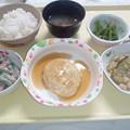Photos: 8月16日夕食(豆腐ハンバーグ) #病院食