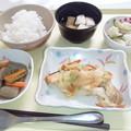 Photos: 8月17日夕食(鮭のちゃんちゃん焼き) #病院食