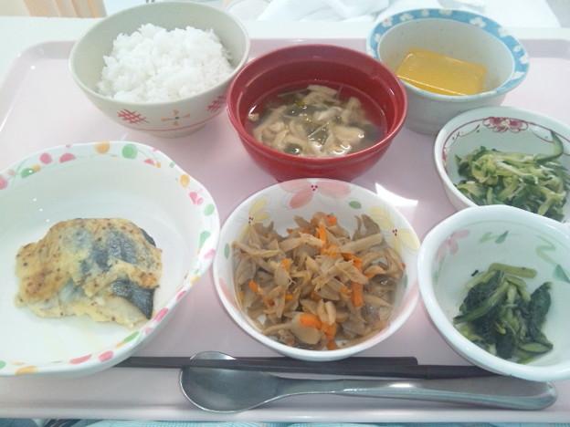 8月18日昼食(鰆のマスタード焼き) #病院食