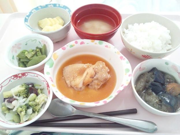 8月19日昼食(鶏肉のソテーガリバターソース) #病院食
