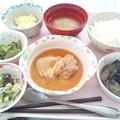 Photos: 8月19日昼食(鶏肉のソテーガリバターソース) #病院食