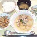 8月20日夕食(鶏肉と大根の煮物) #病院食