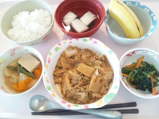 8月21日昼食(豚肉とキャベツの味噌炒め) #病院食