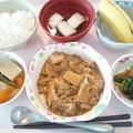 Photos: 8月21日昼食(豚肉とキャベツの味噌炒め) #病院食