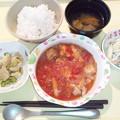 8月22日夕食(鶏のトマト煮) #病院食