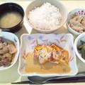 8月23日夕食(赤魚の香り蒸し) #病院食