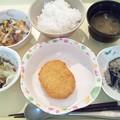 9月14日夕食(野菜コロッケ) #病院食