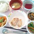 9月21日昼食(鶏の塩麹焼き) #病院食