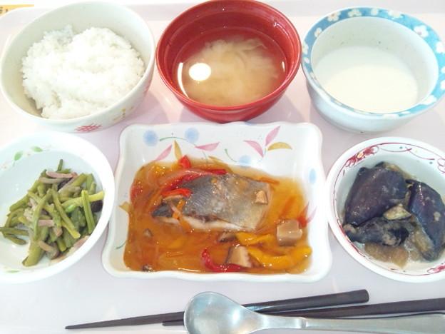 10月8日昼食(鯵の野菜あんかけ) #病院食