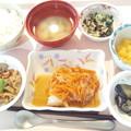 10月12日昼食(赤魚の香り蒸し) #病院食