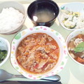 10月12日夕食(豚肉のトマト炒め) #病院食
