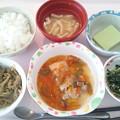 10月13日昼食(鶏の野菜あんかけ) #病院食