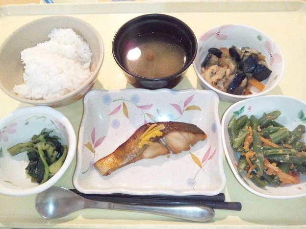 10月13日夕食(めだいの幽庵焼き) #病院食