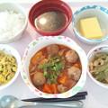 10月17日昼食(肉団子の酢豚風) #病院食