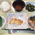 10月17日夕食(鰆の胡麻味噌焼き) #病院食