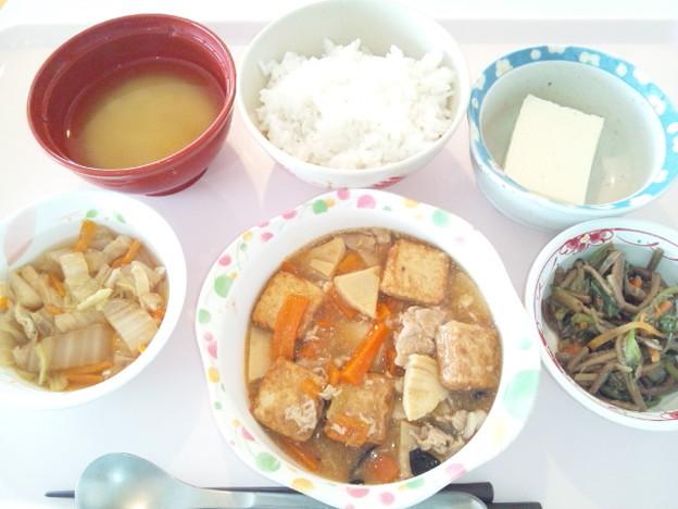 10月19日昼食(家常豆腐) #病院食