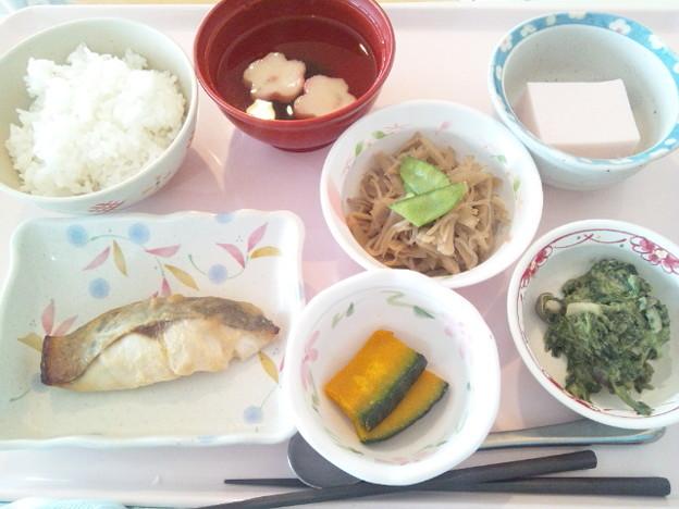 Photos: 10月21日昼食(めだいの味噌焼き) #病院食
