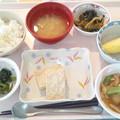 Photos: 10月22日昼食(松風焼き・さつま芋御飯) #病院食