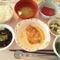 Photos: 10月23日昼食(鶏の柚子胡椒焼き) #病院食