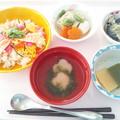11月15日昼食(ちらし寿司) #病院食
