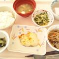 11月18日昼食(鰆のマスタード焼き) #病院食