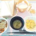 11月20日朝食(野菜つみれの煮物) #病院食