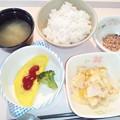 12月10日朝食(肉入りオムレツ) #病院食