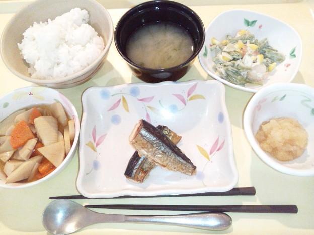 Photos: 12月11日夕食(さんまの塩焼き) #病院食