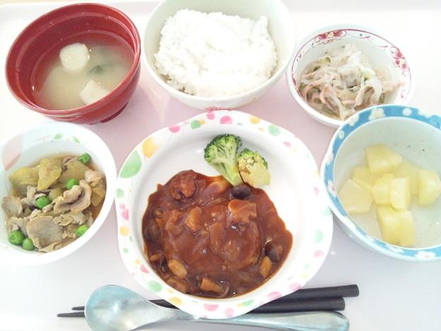 Photos: 12月12日昼食(ハンバーグ) #病院食