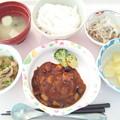 12月12日昼食(ハンバーグ) #病院食