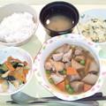 12月13日夕食(鶏肉とごぼうの甘辛煮) #病院食