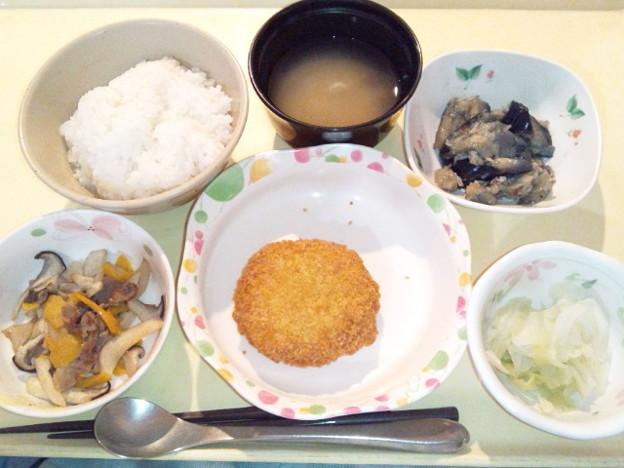 Photos: 12月14日夕食(メンチカツ) #病院食