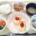 Photos: 12月15日夕食(きのこのオープンオムレツ) #病院食