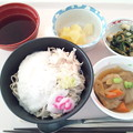 Photos: 12月16日昼食(とろろそば) #病院食