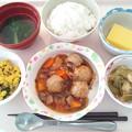 1月17日昼食(肉団子の酢豚風) #病院食