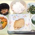 1月17日夕食(鰆の胡麻味噌焼き) #病院食