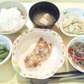 1月18日夕食(鶏の塩麹焼き) #病院食